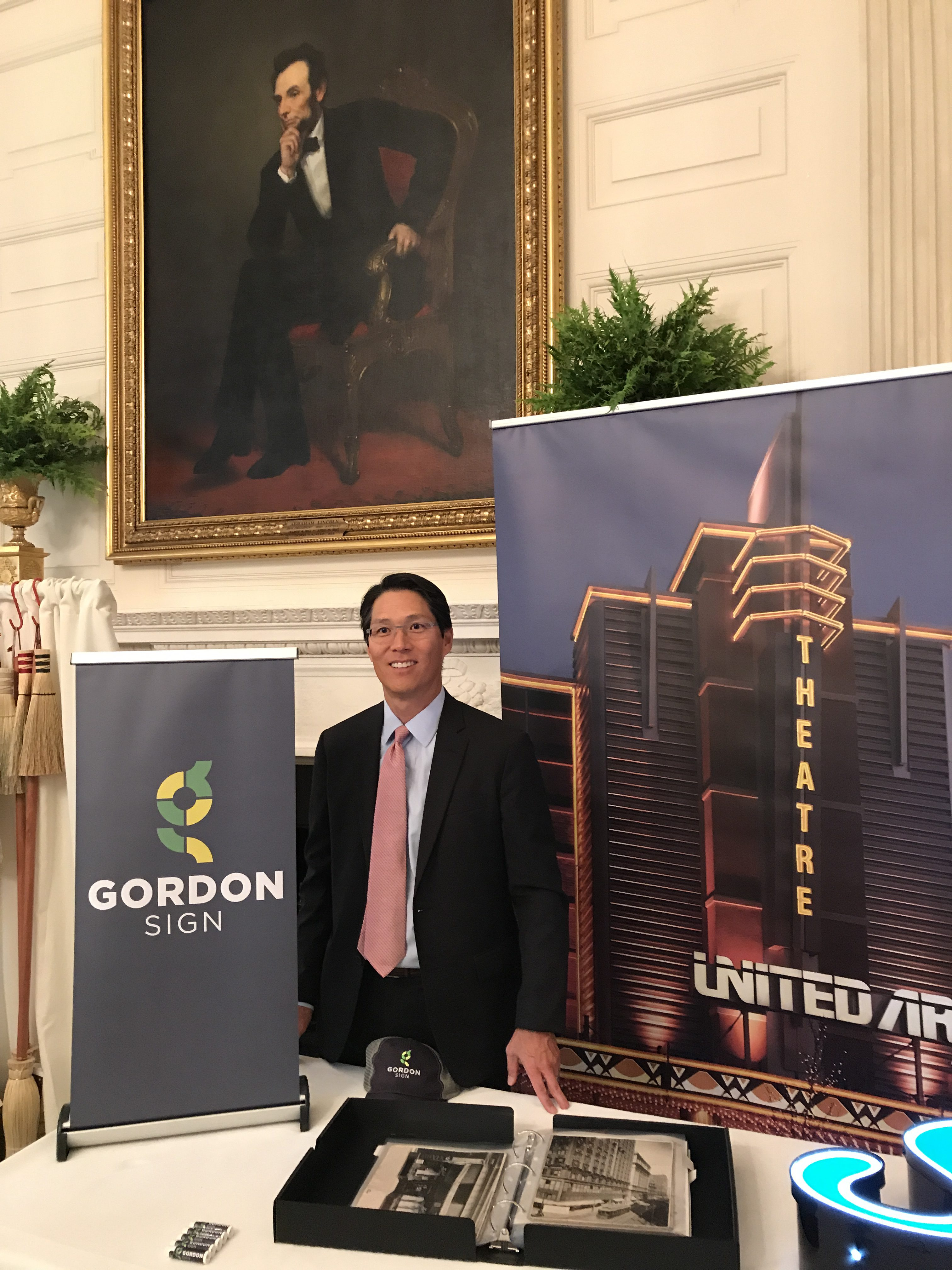 Thomas M. Kim at the White House representing Gordon Sign and Colorado for Made in America Week